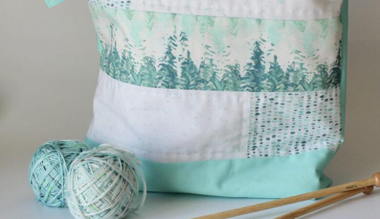 Große Projekttasche in zarten Farben, passend zum Herbst